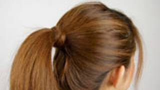 ポニーテールをしばるゴムを髪で隠す方法 Ponytails Tips thumbnail