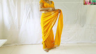 Designer Saree Blouse Draping:Beautiful Wedding Sari Choli Stylist Drape