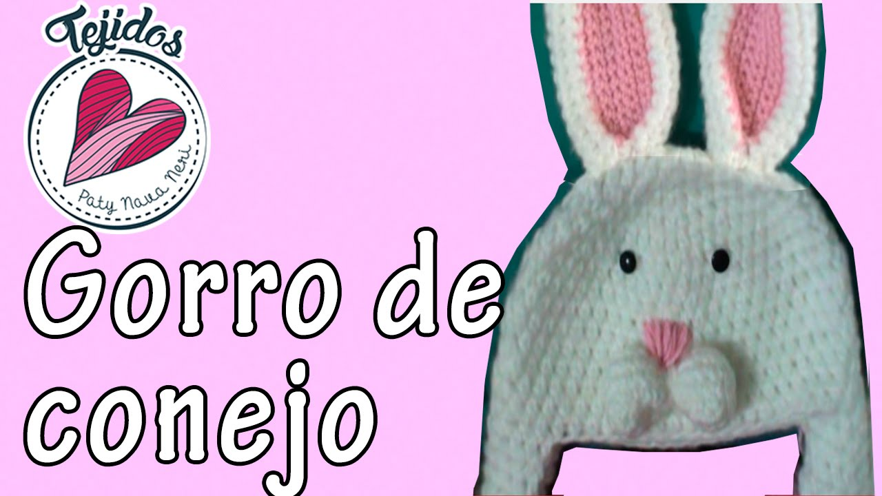 Gorro de conejo a crochet TUTORIAL | PatyNavaNeri - YouTube