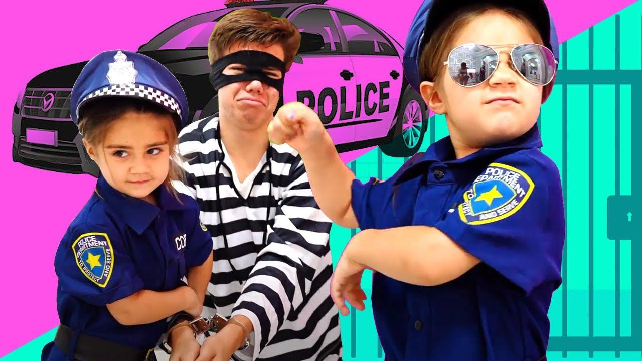 Полицейские Настя и Артем Ловят Воришку 🚔 Новые истории про полицию   Мия Настя и Артем