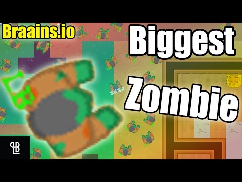 Biggest Zombie Ever In Braains.io | The Biggest Survivor Braainsio