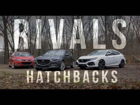 Rivals: Honda Civic, Chevy Cruze and Mazda 3 battle for affordable hatchback supremacy - Dauer: 10 Minuten