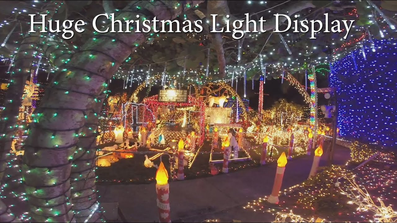 Largest St Petersburg FL Private Christmas Light Display - YouTube