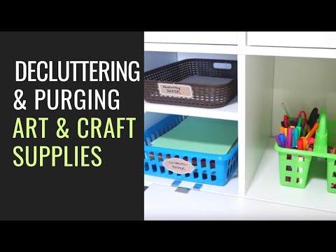 20 min Declutter & Organize Art & Craft Supplies & Art Projects (Simplify Toys Series Ep. 9)