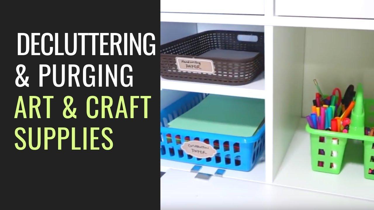 20 Min Declutter Organize Art Craft Supplies Art