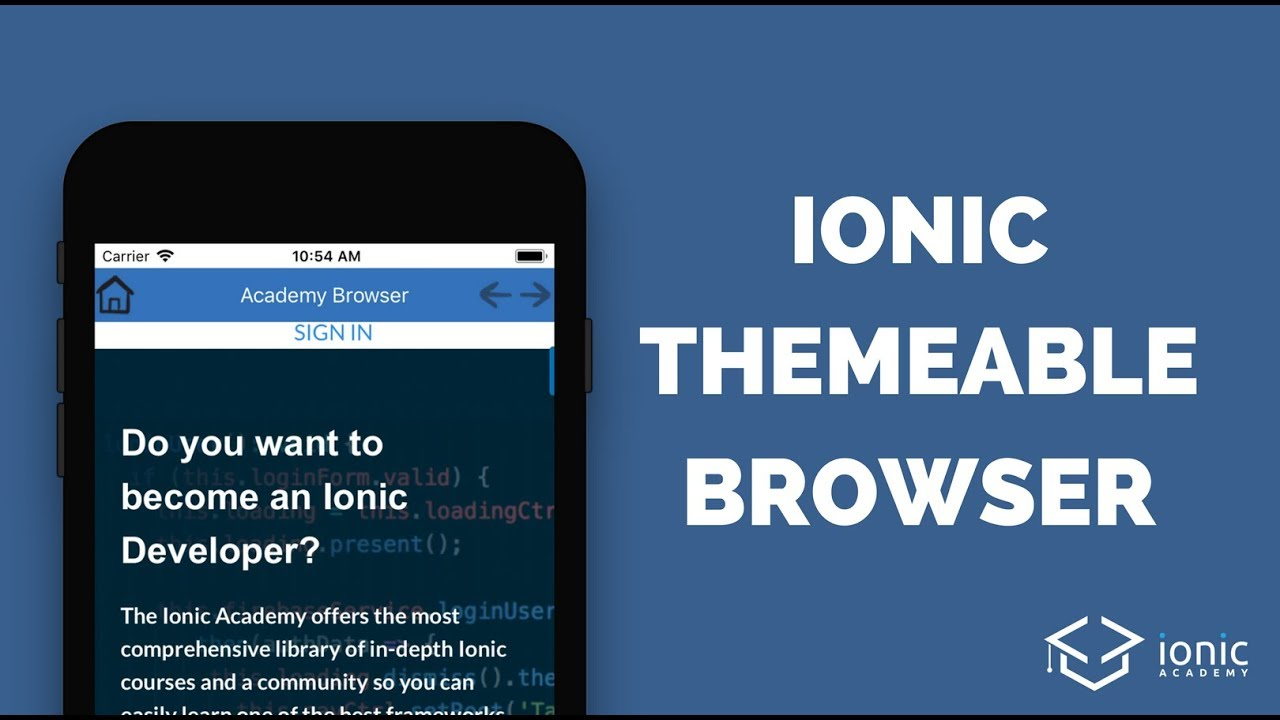 Build Your Custom Ionic Themeable Browser
