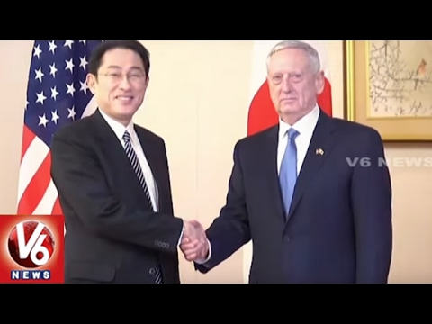 US Defence Chief Mattis Meets Japan External Affairs Minister | V6 USA NRI News