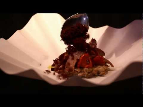 moto Restaurant's Coffee Grinds Course