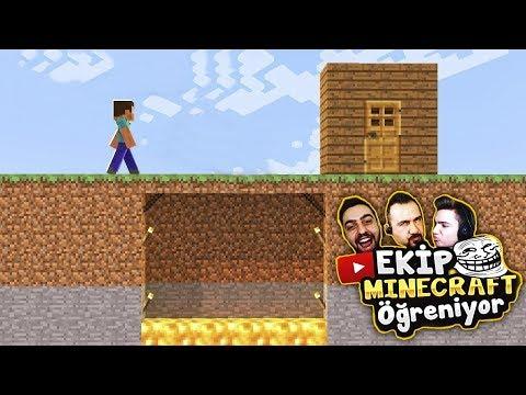 EKİP Minecraft Öğreniyor Için TROLL TUZAK Hazırlıyoruz !!