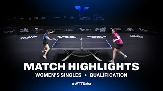Kim Hayeong vs Mariia Taikalova   WTT Star Contender Doha 2021   WS   QUAL Highlights