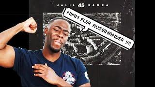 Jalil x Samra - 45 (Official Lyric Video) REAKTION!!!