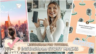 9 Instagram Story Tricks (2019 - 2020) | AnaJohnson