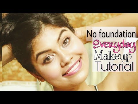 Office Makeup: No Foundation Glowing Skin Makeup Tutorial