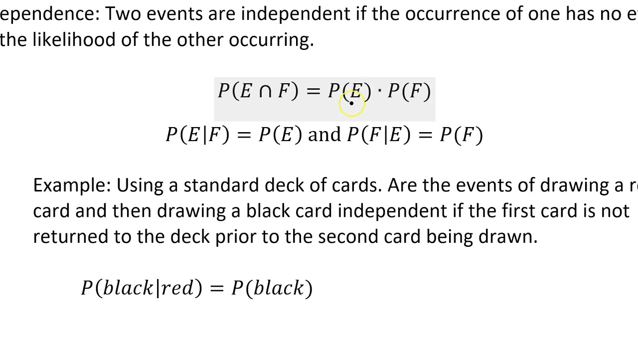 6.4 conditional probability, venn diagram, and independent events