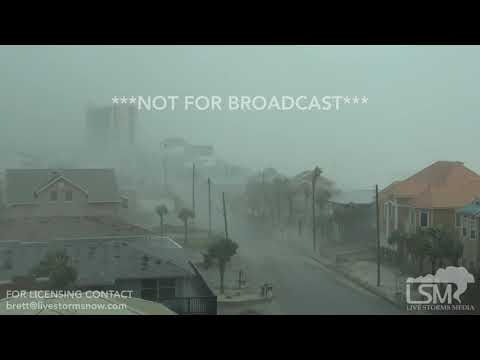 10-10-2018 Panama City Beach, Fl Hurricane Michael rips roof off home, EXTREME eyewall