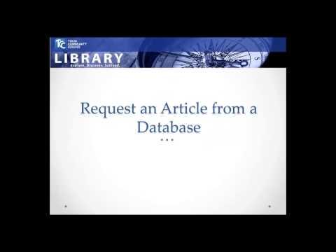 ILLiad Interlibrary Loan @ TCC Library