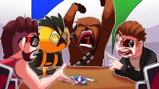 We had UNO friendship time BUT NOGLA IS JUST YAWNING LIKE CHEWBACCA ALL THE TIME!