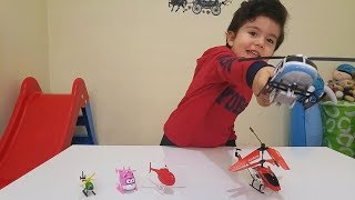 HELİKOPTER CHALLENGE YAPTIK|Eğlenceli Çocuk Videosu|#oyuncak