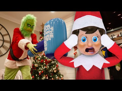 The Grinch Vs Elf On The Shelf! How The Grinch Saved Christmas!