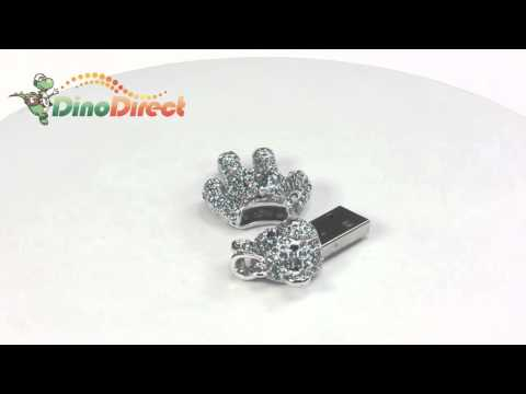 Cute 8GB Bear Shaped Alloy Crystal Jewelry USB Flash Drive  from Dinodirect.com