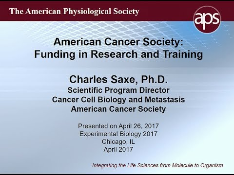 Cancer Funding from a Private Foundation – 2017 Trainee Symposium Pt 3