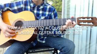 yamaha cgx 102 acoustic electric guitar unboxing