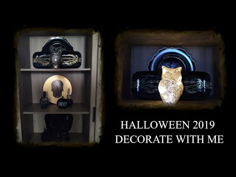 🎃DECORATE WITH ME HALLOWEEN 2019 DISPLAY CABINET HUTCH #FALL #AUTUMN2019