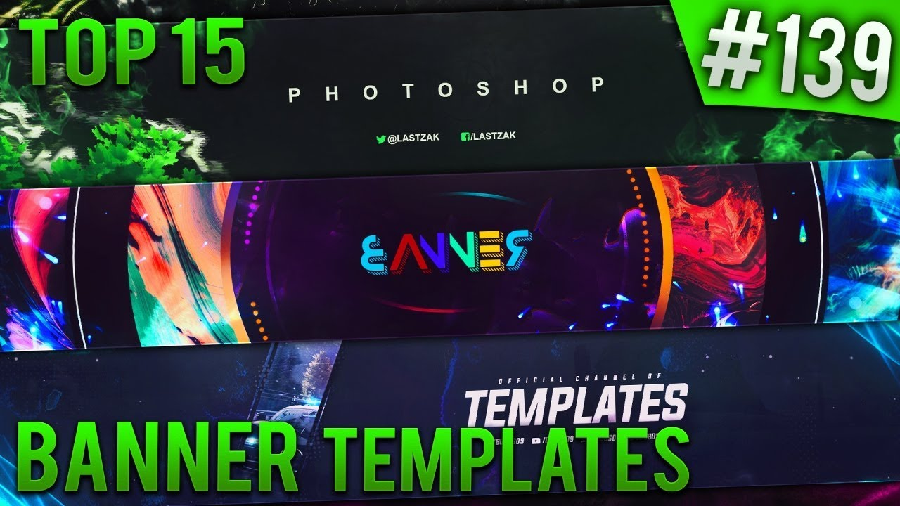 TOP 21 Photoshop banner templates #21 (Free download) - YouTube With Banner Template For Photoshop