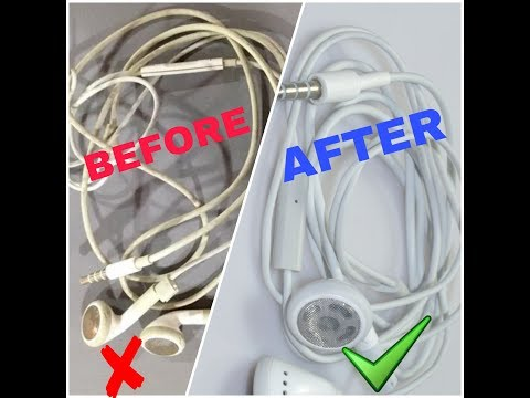How to Clean Dirty Earphones Wire at Home