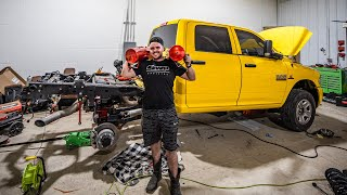 FULL AIR RIDE IS KICKING MY A$$! | Building a Banana Ram | Part 23