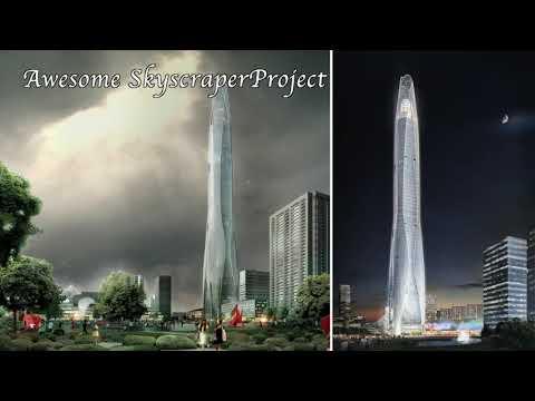 update!!-tianjin-ctf-finance-center-supertall-skyscraper-in-tianjin,-china-january-2019