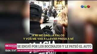 Bocinazo y patada al auto: pelea de tránsito en Recoleta