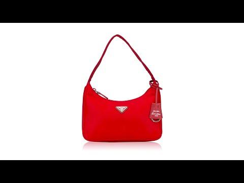 Prada 1NE515 2000 Re-Edition Tessuto Mini Bag Rosso