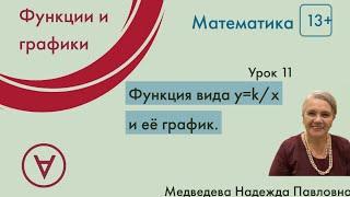 Математика 13+|Функция вида y=k/x и её график |Урок 11