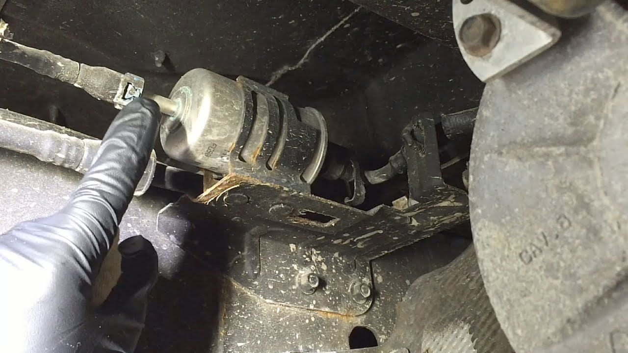 ford f 150 fuel filter replacement w tips  [ 1280 x 720 Pixel ]