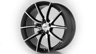 TSW Alloy Wheels- the Sprint in Gloss Black W Mirror Cut Face