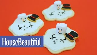 Melted Snowman Cookie  House Beautiful