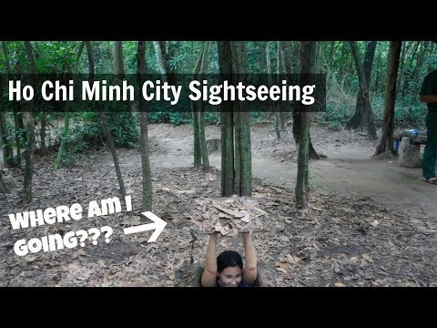 Seeing the sights in Ho Chi Minh City, Vietnam (Cu Chi Tunnels)