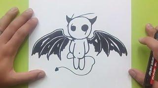 Como dibujar un diablo paso a paso | How to draw a devil