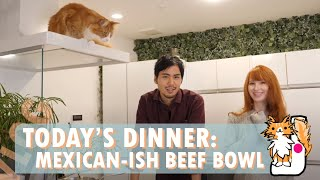 Today's Dinner: Mexican-ish Beef Bowl 🔪 Cooking vlog