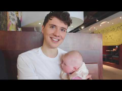 dan and phil in louise's vlog and baby pearl