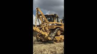 tractor Caterpillar D8n aratura da scasso , deep  plowing Ciccotelli Moviter