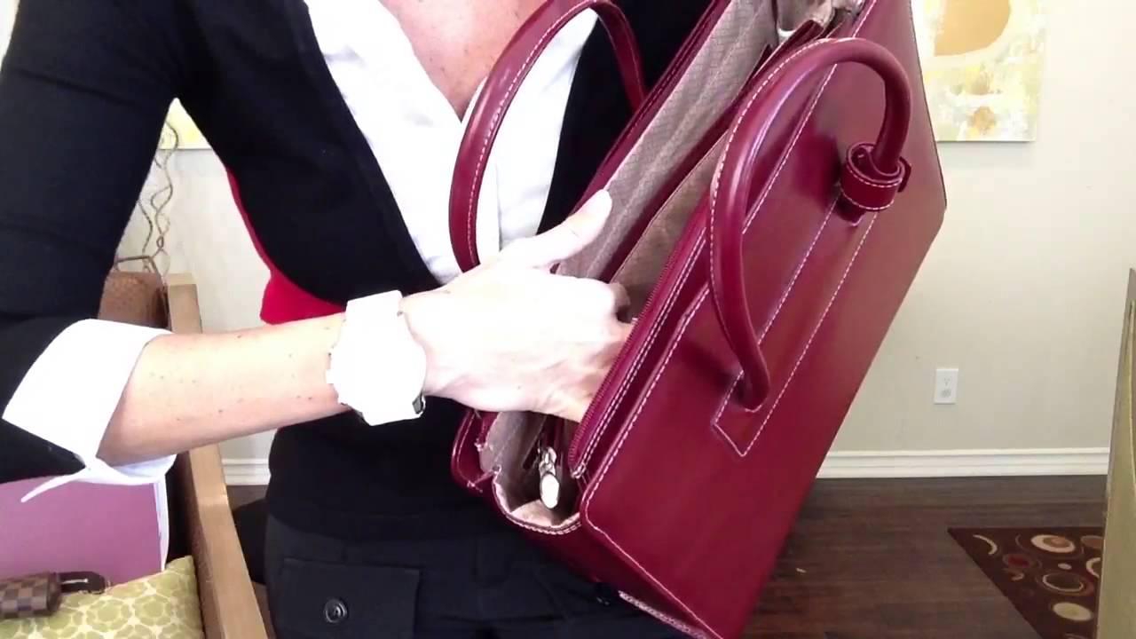 35b034c9c922 McKlein Women s Briefcase with Louis Vuitton Accessories - YouTube