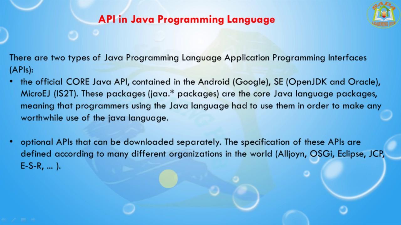 Lesson - 02 : J2EE Basics - API in Java Programming Language