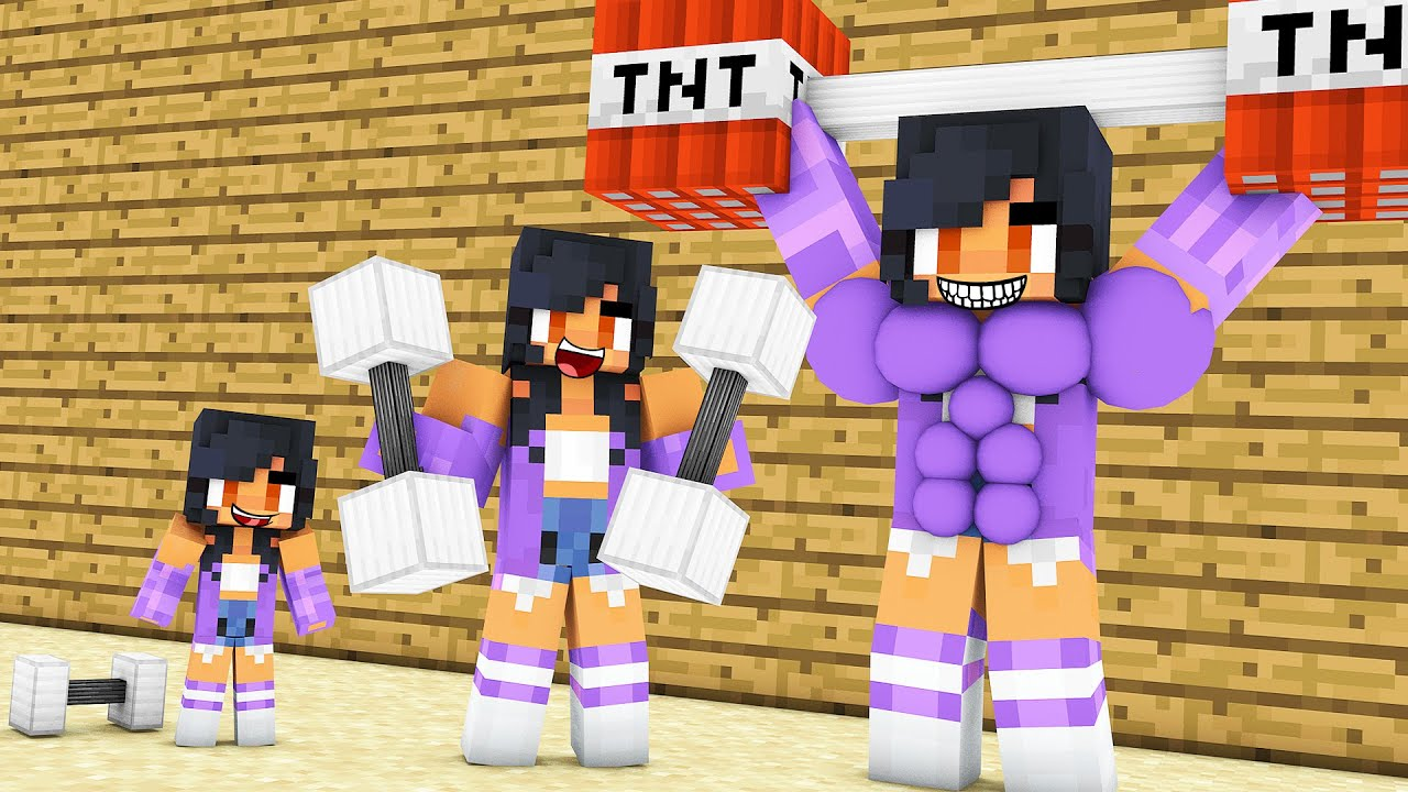 Monster School : GOOD STRONG APHMAU AND BAD WITHER SKELETON - Minecraft Animation