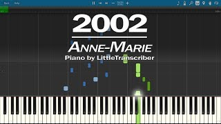 Anne-Marie - 2002 (Piano Cover) Synthesia Tutorial by LittleTranscriber