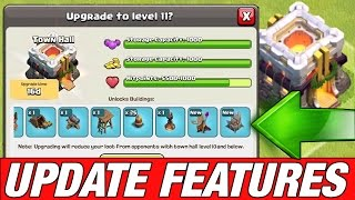 NEW UPDATE FEATURES RELEASED! Clash Of Clans Town Hall 11 Update!