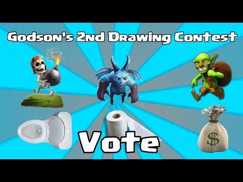 Clash Of Clans - Godson's 2nd Drawing Contest Vote! (READ DESCRIPTION)