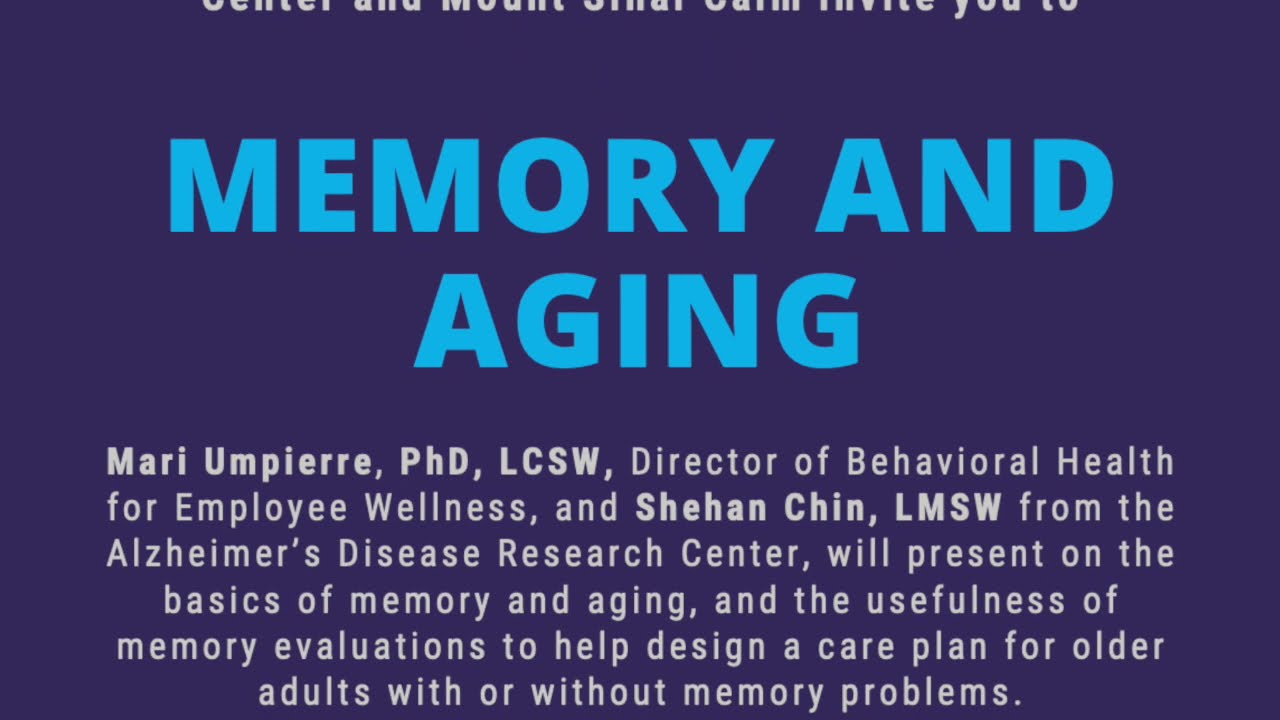 Caregivers ERG - Memory and Aging