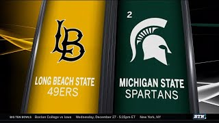 Long Beach State at Michigan State - Men's Basketball Highlights